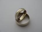 Snubní prsteny vzor snub1-rýha