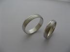 Snubní prsteny vzor snub1-rýhy fr