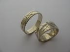 Snubní prsteny vzor snub26-18kam