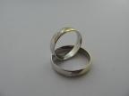 Snubní prsteny vzor snub40b/ž3rýhy