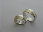 Snubní prsteny vzor snub40-ploch