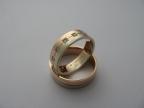 Snubní prsteny vzor snub41č-b
