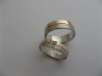 Snubní prsteny vzor snub41č-b-fr