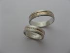 Snubní prsteny vzor snub47b-č-b