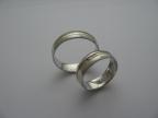 Snubní prsteny vzor snub47b-ž-b