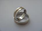 Snubní prsteny vzor snub48-b/č/b