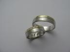 Snubní prsteny vzor snub49-ž-b-fr
