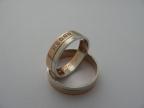 Snubní prsteny vzor snub49-č/b