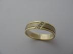 Snubní prsteny vzor sn50/53ž-b-ž-fr