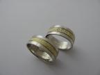 Snubní prsteny vzor snub50bžb-mat