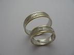 Snubní prsteny vzor snub51-ž-b-ž-fr