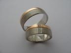 Snubní prsteny vzor snub54-č-b